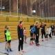 Projekt Volleyball macht Schule: VfB-Suhl-Spielerinnen der 1. Bundesliga mit ihren Kinderteams . Wolfsgrube Suhl 11.02.2019