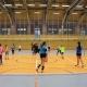 Projekt Volleyball macht Schule: Hildburghäuser Kinder und VfB-Suhl-Volleyball-Bundesligaspielerinnen gemeinsam am Netz . Wolfsgrube Suhl 11.02.2019