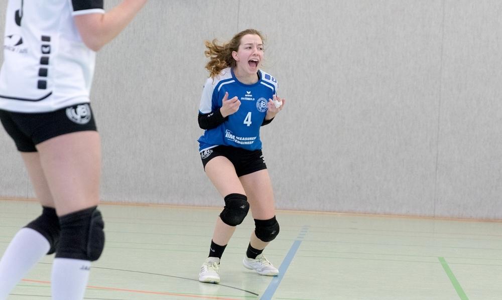 Volleyball Verbandsliga Süd: VfB 91 Suhl 3 Libera Vanessa Walpert . Sporthalle