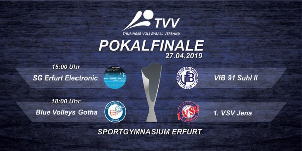 TVV Pokalfinale: SG Erfurt electronic : VfB 91 Suhl 2 (Sportgymnasium Erfurt, 27.04.2019)