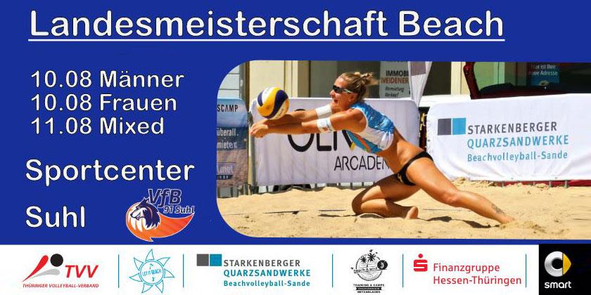 Thüringer Beachvolleyball-Landesmeisterschaft 2019 Sportcenter Suhl