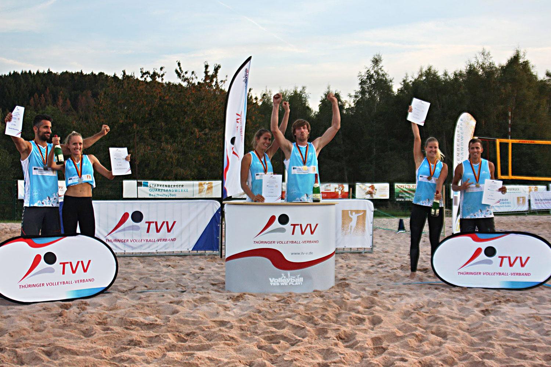 Sieger Deutsche Meisterschaft Beach Mixed . 13.09.2020, Beachanlage Sportcenter Suhl