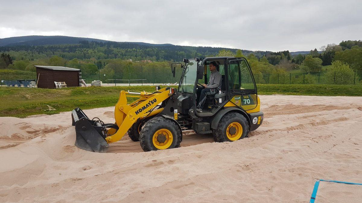 Bau der 3-Felder-Beachanlage im Sportcenter Suhl
