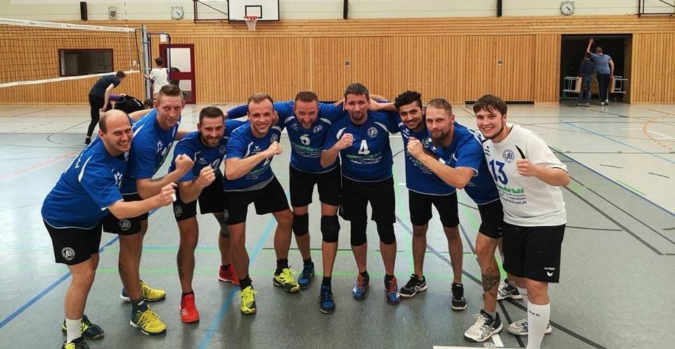 Volleyball Verbandsliga Süd Männer: VfB 91 Suhl . TH Breite Gasse Gotha . 22.09.2018