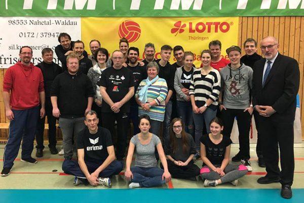VfB-91-Suhl-Aufbauhelfer-Team in der Wolfsgrube
