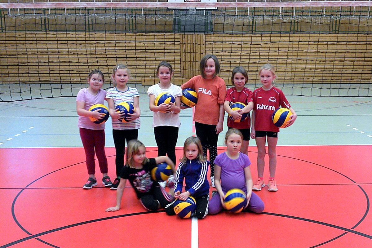 Volley-Ball-Schule . Jenaplan-Schule Suhl AG Sport 2014-15