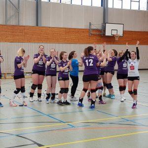 Jubel beim Team VfB 91 Suhl 2 - Volleyball-Thüringenmeister 2017/18 . Erfurt 17.03.2018