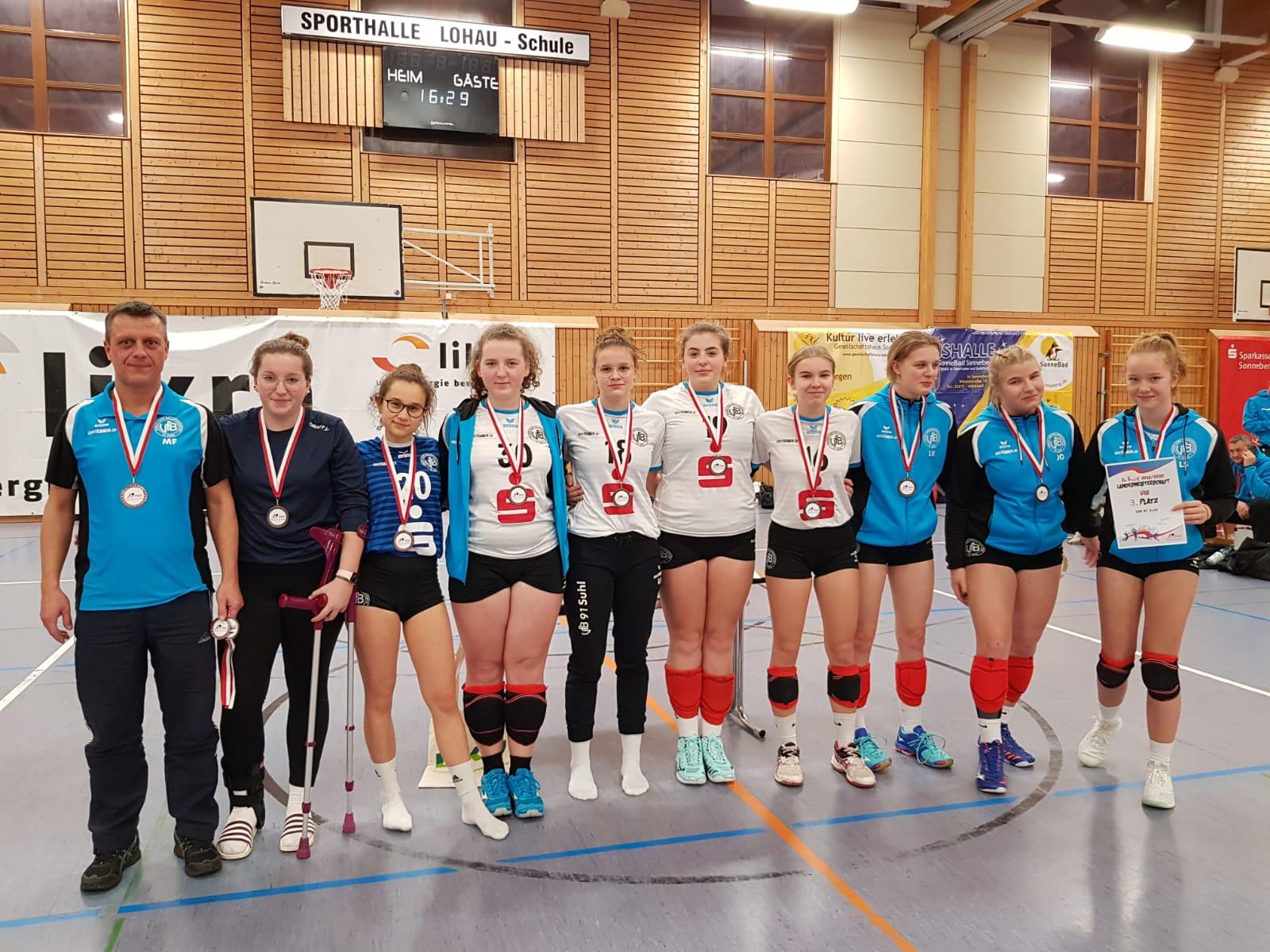 Thüringer Landesmeisterschaft U18 2019: 3. Platz für VfB 91 Suhl U18 2 . Sporthalle Lohau-Schule Sonneberg 15.12.2019