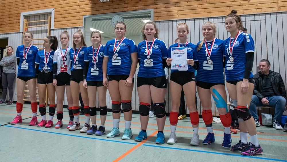 Thüringer Landesmeisterschaft U20 2019: 3. Platz für VfB 91 Suhl 2 . Sporthalle