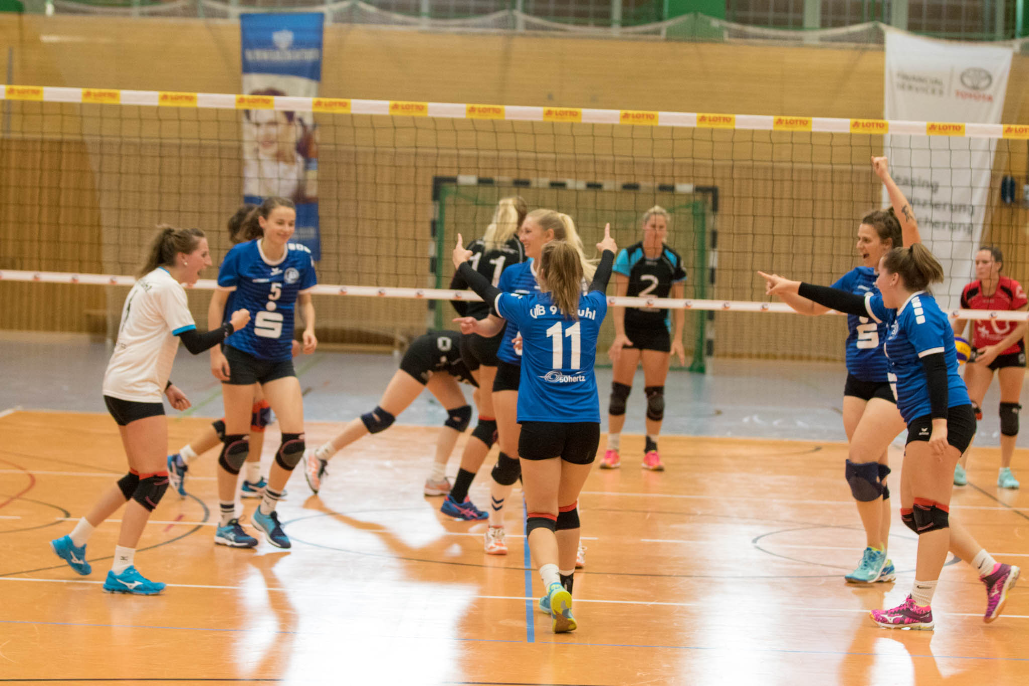 Volleyball-Regionalliga Ost: VfB 91 Suhl 2 : SG Erfurt electronic . 13.10.2018 (Foto: Stephan Roßteuscher)