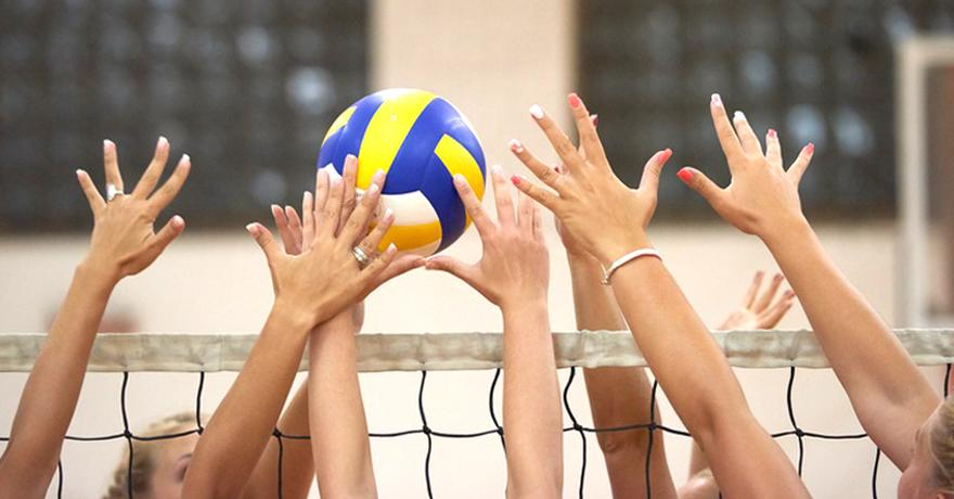 Frauen-Volleyball Hände